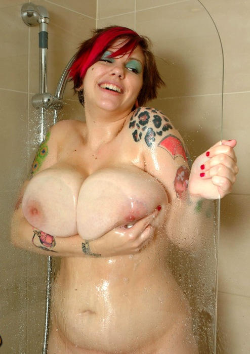 dors feline getting all wet in the shower